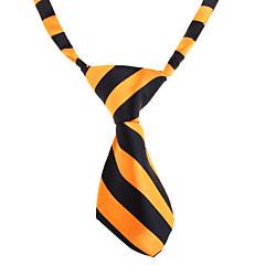 Einfache Streifen-Muster Krawatte für Haustiere Hunde Katzen (Farbe sortiert, Hals: 26-38cm)