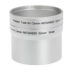 52mm Tube adaptateur et filtre pour Canon A610 A620 Argent Télé