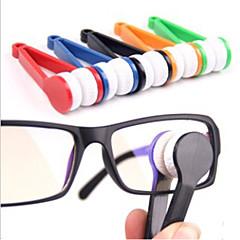 מיני המשקפיים משקפיים מיקרופייבר קליפ ניקוי מנקה (צבע רנדומלי)