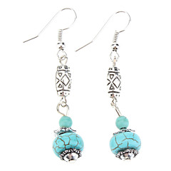 Women's  Lantern Shape Turquoise Earrings