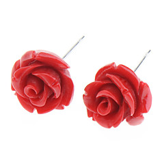 Women's Rose Stud Earring