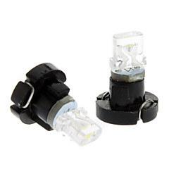 T3 Cold White Light LED-lampa för bil Instrument Lampa (DC 12V, 1-Pair)