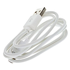 White USB Male to Micro USB Male Cable for Samsung and Other Smart Phone (1M)