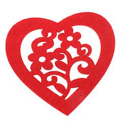 Heart Shaped Felt Coaster Cup Mat