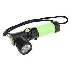 Rotatable Right-angle Head Cree XR-E Q5 LED Flashlight with Clip(200LM, 1xAA, Yellow/Green)