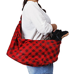 Singola spalla Slope Tipo Rosso Gridding modello Pet Zaino da viaggio per cani