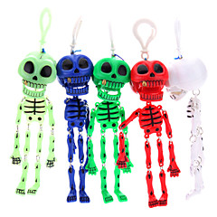 Skeleton Skull Keychain (Random Color)