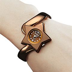 Frauen-Art-Metall Analog Quarz Armband Uhr (Bronze)