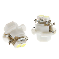 B8.4 0.5W 2x3528SMD White Light LED-lamppu auton Instrument Lamppu (DC 12V, 1-Pair)