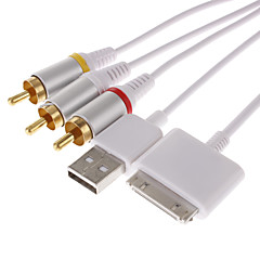 AV-kabel og USB til iPhone 3G 3GS