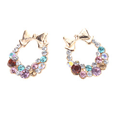Colorful Butterfly Diamond Earrings