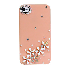Zircon Daisy Pattern Hard Case for iPhone 4/4S