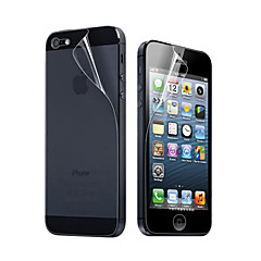 12X átlátszó kijelzővédő fólia iPhone 5 készülékhez (elő- és hátlap)