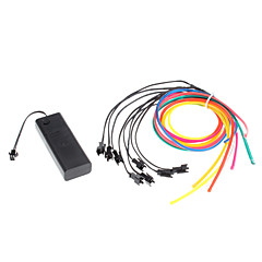 1 Meter Flexible Car Decorative Neon Light 4mm EL Wire Rope with Battery Power Supply
