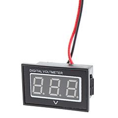 """v40d dual-kawat 1.2 """"memimpin 3-digital dc voltmeter modul w / perlindungan tegangan balik - hitam (3 ~ 30v)"""