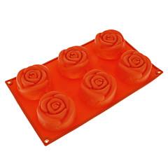 Rose Shaped Silicone Cake Mould