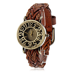 Women's Watch Bohemian Hollow Dial Knitted Leather Band
