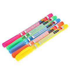 5 Pack Colorful Highlighter (Yellow,Red,Orange,Green,Blue)
