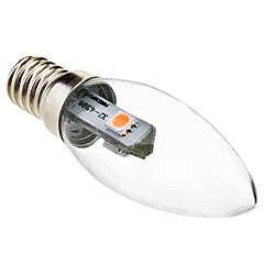 0.5W E14 Luzes de LED em Vela C35 3 SMD 5050 45 lm Branco Quente Decorativa AC 220-240 V