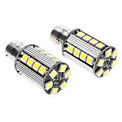 BAU15s 5W 6000-6500K 380-420LM 26x5050SMD LED White Light baklygte (DC 12-16V, 1-Pair)