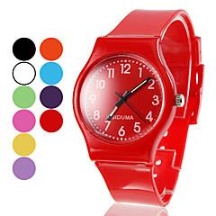 Silicone unisex orologio da polso al quarzo analogico (colori assortiti)