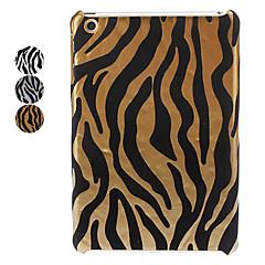 zebra-rand PU läder hårda fallet för ipad mini 3, iPad Mini 2, iPad Mini (blandade färger)