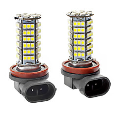 Biała Żarówka Samochodowa LED do Świateł Przeciwmgielnych H11 5W 102-SMD LED 6000-6500K 400LM (DC 12V, 2 Sztuki)
