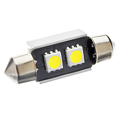 36mm 1W 2-LED 70-80LM 6000-6500K White Light Bulb for Car CANBUS (DC 12V)