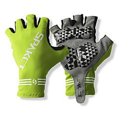 SPAKCT S13G03 Kestävä polyesteri ja Vinylaali materiaalit Half Sormikkaat Design for Polkupyöräily-Green
