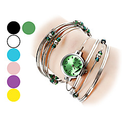 Women's Watch Silver Steel with Beads Bracelet Cool Watches Unique Watches Fashion Watch