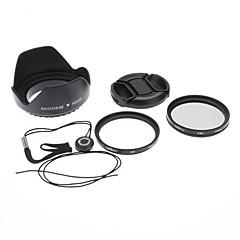 49mm UV Filtre CPL Lens + Cap + Keeper + capot pour Sony Alpha NEX-7 NEX-5N NEX-C3