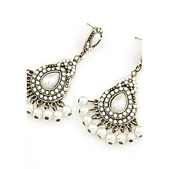 Bohemian Style Alloy With Resin Water Drop Shaped Women's Earrings(More Colors)