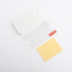 ultra tynn gummi matte mesh vanskelig sak deksel for iPhone 4 og 4S med skjerm vakt (hvit)