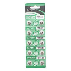 AG3 1.55V Alkaline Knopfzelle Batterien (10-Stück Pack/2-Pack Set)