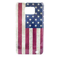Retro Style US National Flag Mönster Hard Case för Samsung Galaxy S2 i9100