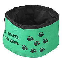 Kot Pies Miski i butelki wody Zwierzęta domowe Miski i Żywienie Składany Czerwony Zielony Niebieski Tekstylny