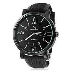 Men's Watch Dress Watch Roman Numerals Dial Silicone Strap