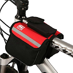 Outdoor Textile Portable Colorful Bicycle Front Bag (Random Color)