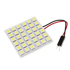 36 LED decorativo universal bóveda del coche de la luz blanca 2pcs
