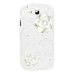 Two Roses Pattern Hard Case kanssa tekojalokivi Samsung Galaxy S3 I9300