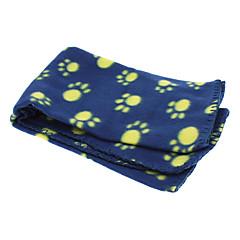 patrón patas lindo manta de lana suave alfombra de la manta para mascotas perros (color al azar)