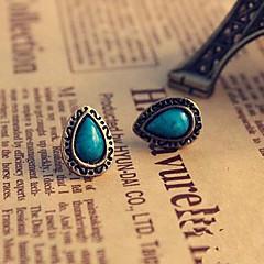 Lureme®Vintage Turqoise Teardrop Shape Earrings