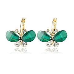 Women's New Korean super delicate butterfly crystal earrings(random color)