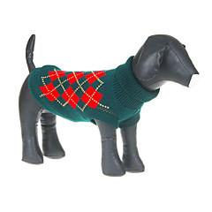 Precioso Classic Grids Verde Diseño Suéter para Mascotas Perros (diferentes tamaños)