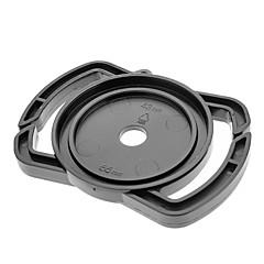 Universal 43mm / 52mm / 55mm Lens Cap Holder Buckle for SLR Camera - Svart