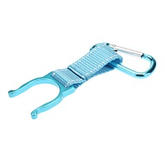 Aluminum Alloy Water Bottle Buckle Holder(Blue)