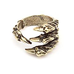 유럽과 미국의 복고풍 펑크 록의 발톱 반지 반지 여성