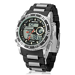 Men's Multi-Function Analog-Digital Dial Plastic Band Wrist Watch (Assorted Colors)