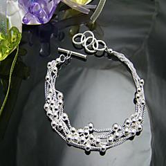 A pulseira de prata esférica
