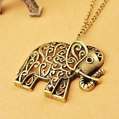 Europeiska och amerikanska smycken retro ihåliga ristade söta elefant tröja kedja N478